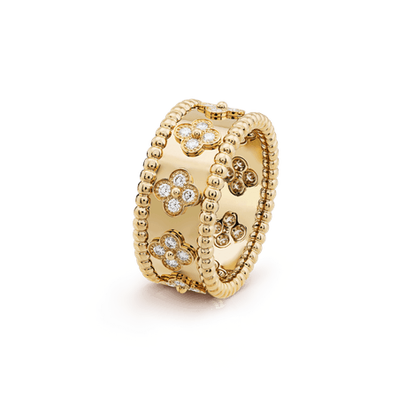 Perlée clovers ring, small model - VCARO9NC00- Van Cleef & Arpels