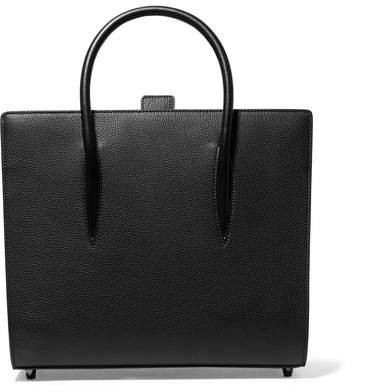 Paloma Medium Spiked Textured, Smooth And Patent-leather Tote - Black