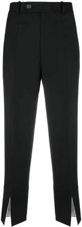 front slit suit trousers