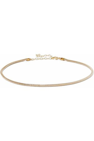 Mary 18-karat gold-plated sterling silver choker | IRIS & INK | Sale up to 70% off | THE OUTNET