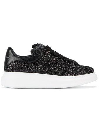 Alexander McQueen Black Glitter Platform Sneakers £360 - Fast Global Shipping, Free Returns