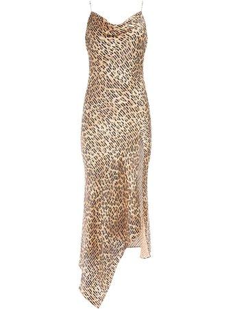 Alice+Olivia Harmony leopard print slip dress