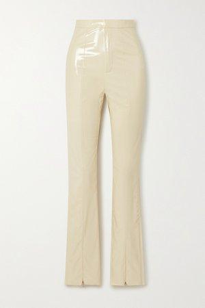Ecru Jewel faux patent-leather pants   ROTATE Birger Christensen   NET-A-PORTER