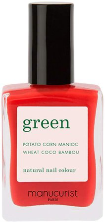 Green Nail Lacquer - Red Coral