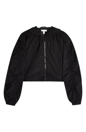 Topshop Joan Nylon Crop Jacket (Petite) | Nordstrom