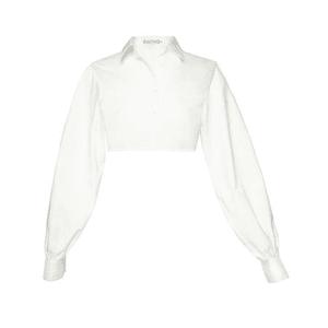 white crop blouse