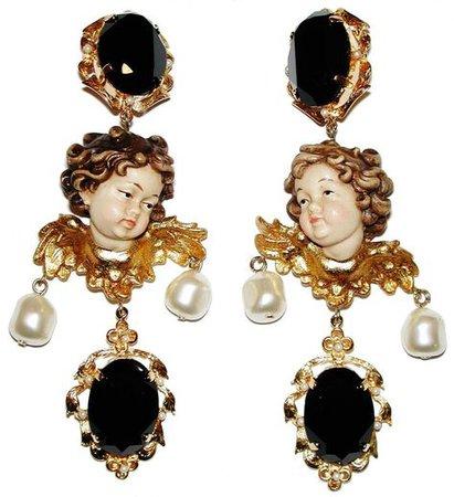 Dolce & Gabbana Baroque Style Cherub Putti Earrings | Baroque fashion, Earrings, Baroque