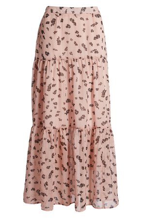 Leith Tiered Maxi Skirt | Pink