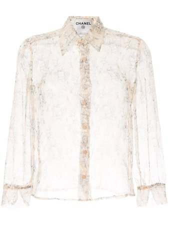 Chanel Pre-Owned long sleeve see-through shirt