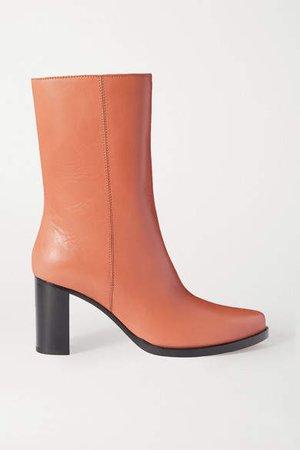 Legres LEGRES - Leather Ankle Boots - Tan