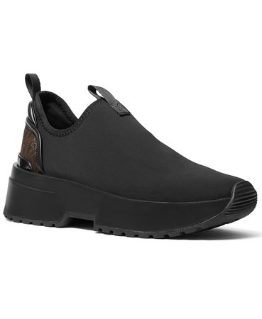 black Michael Kors Women's Cosmo Stretch Slip-On Sneakers & Reviews - Athletic Shoes & Sneakers - Shoes - Macy's