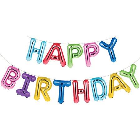 Multicolored Happy Birthday Balloon Banner | Happy Birthday Themes | Party City Canada