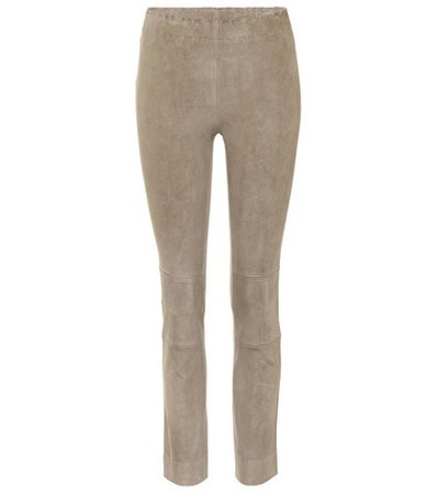 Maria Rosa suede trousers