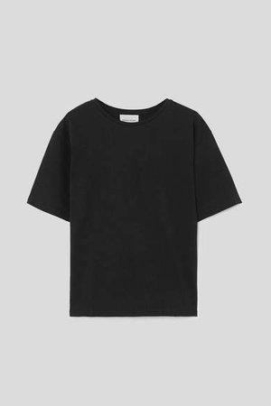 Loulou Studio LOULOU STUDIO - Lipari Oversized Cotton-jersey T-shirt - Black