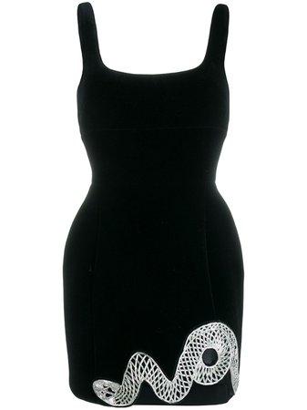 David Koma Slithering Snake Mini Dress - Farfetch
