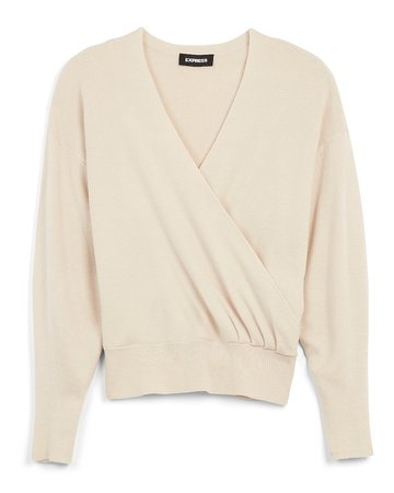 Wrap Front V-neck Sweater | Express