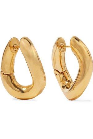 Balenciaga   Gold-tone earrings   NET-A-PORTER.COM