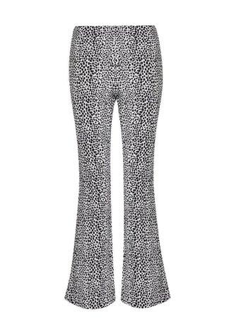 PETITE Ivory Printed Kick Flare Trouser   Miss Selfridge