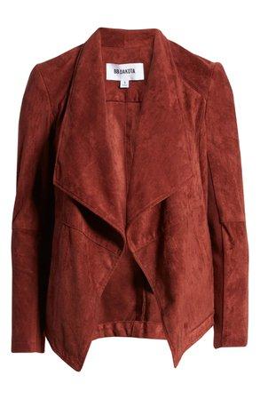 BB Dakota Wade Drape Front Faux Suede Jacket | Nordstrom