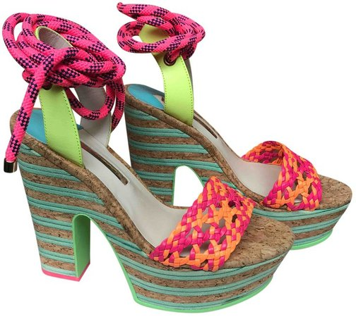 Multicolour Polyester Sandals