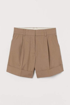 Pima Cotton Shorts - Beige