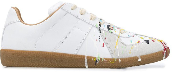 Paint-Splatter Sneakers