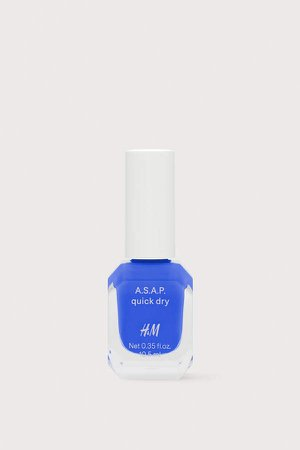 Fast-drying Nail Polish - Blue