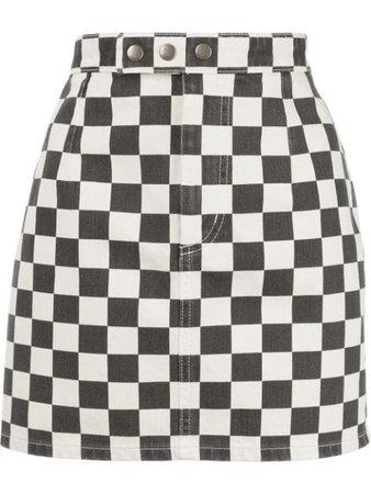 Saint Laurent Checkerboard Mini Skirt