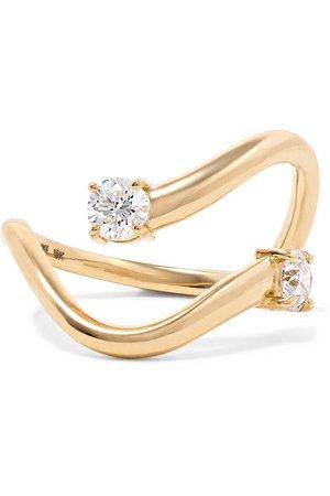 Melissa Kaye | Aria Skye 18-karat gold diamond ring | NET-A-PORTER.COM