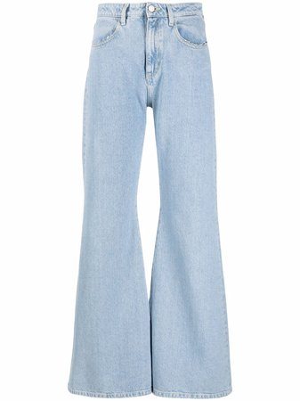 Shop ICON DENIM high-rise flared-leg jeans with Express Delivery - FARFETCH