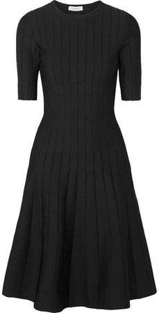 CASASOLA - Ribbed Stretch-knit Dress - Black