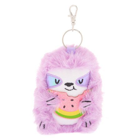 Sophie the Sloth Plush Keychain - Lavender | Claire's US