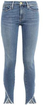 Le Skinny De Jeanne Frayed Mid-rise Skinny Jeans