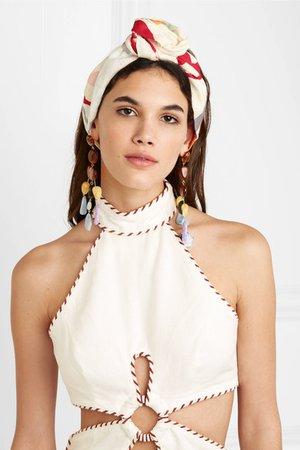 Cult Gaia | Turband printed gauze headband | NET-A-PORTER.COM