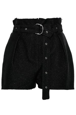 Belted metallic tweed shorts | IRO