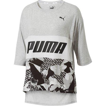 Modern Sports Boyfriend Tee | Light Gray Heather | PUMA T-Shirts | PUMA United States