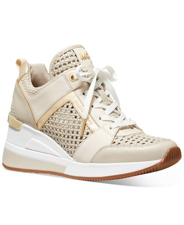 Michael Kors Georgie Trainer Sneakers & Reviews - Athletic Shoes & Sneakers - Shoes - Macy's cream