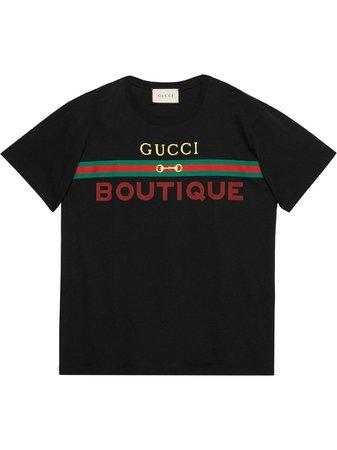 Gucci Gucci Boutique Print T-shirt - Farfetch