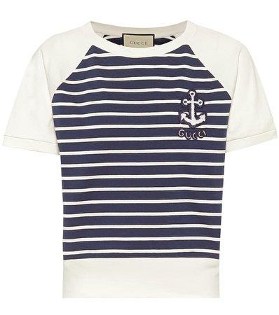 Striped Cotton T-Shirt - Gucci
