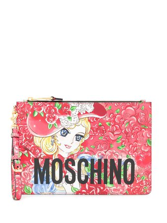 Moschino Georgie Print Clutch - Farfetch