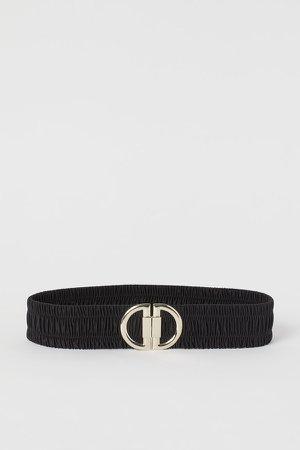 Elastic Waist Belt - Black