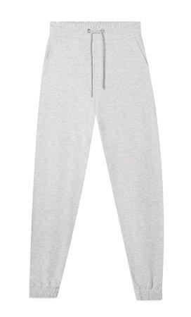 Grey melange Plush jersey jogging trousers - Women's Just in | Stradivarius United States