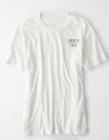 AE Graphic Cropped T-Shirt white