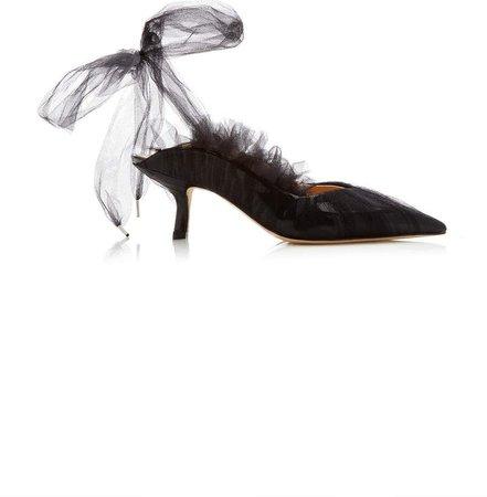 MIDNIGHT 00 Kitten Ballet Mules Size: 36