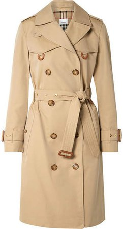 Cotton-gabardine Trench Coat - Beige