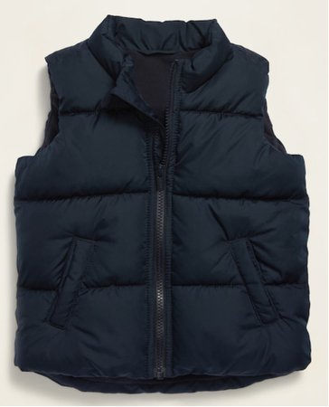 boys blue puffer vest