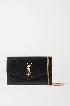 Uptown Textured-leather Shoulder Bag - Black