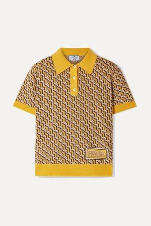 Prada | Polohemd aus Seide mit Intarsienmuster | NET-A-PORTER.COM