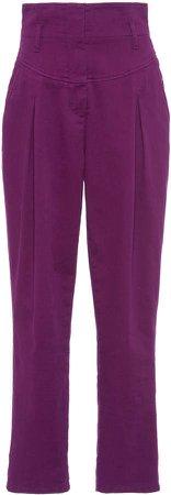 Alberta Ferretti Stretch Cotton Tapered Pants