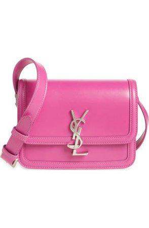 Saint Laurent Solferino Monogram Leather Shoulder Bag | Nordstrom